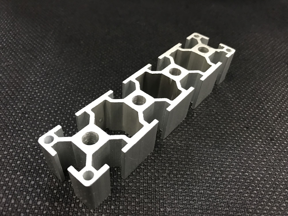 Aluminium extrusion sample